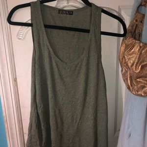 Green brand new tank top